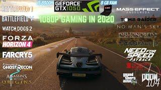 GTX 1050 4GB 16 Games Performance Test 1080p | MSI GF63 8RC | GTX 1050