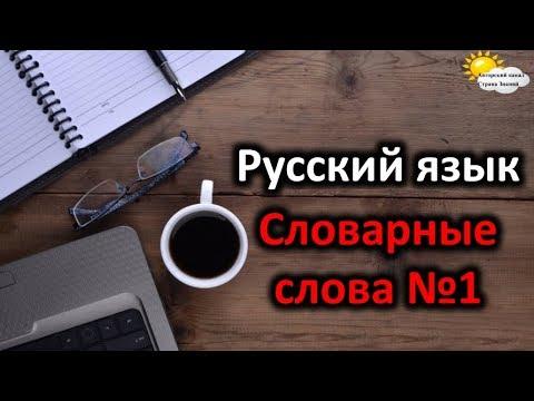 Русский язык. Словарные слова №1