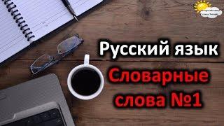 Русский язык. Словарные слова. Начальная школа. Урок №1. Школа.