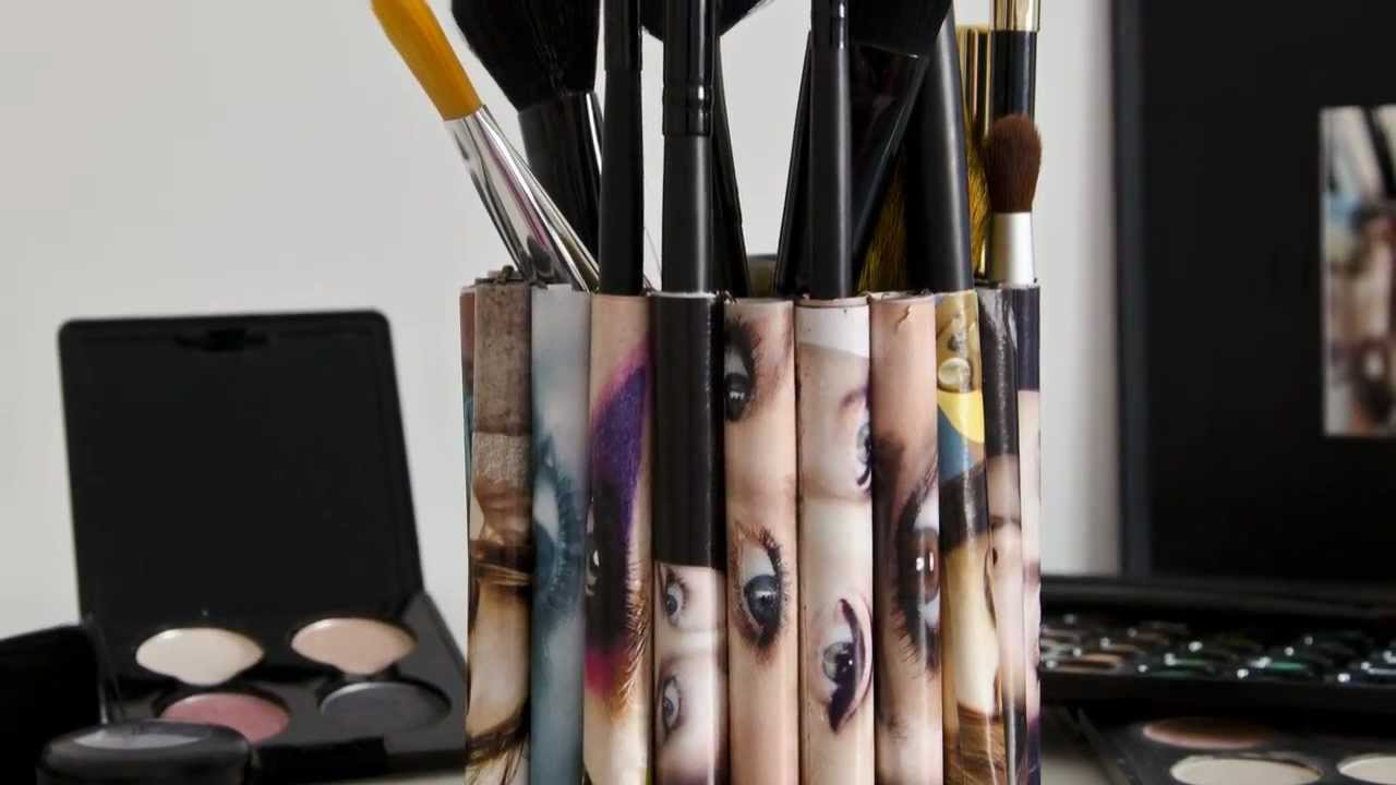 spesso porta pennelli makeup - YouTube DX04