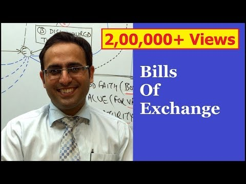 INTRODUCTION TO BILLS OF EXCHANGE VIDEO (NEGOTIABLE INSTRUMENT ACT 1881)