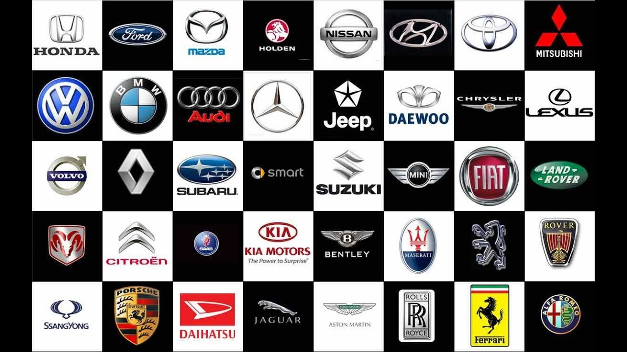 all cars brand logo and images youtube. Black Bedroom Furniture Sets. Home Design Ideas