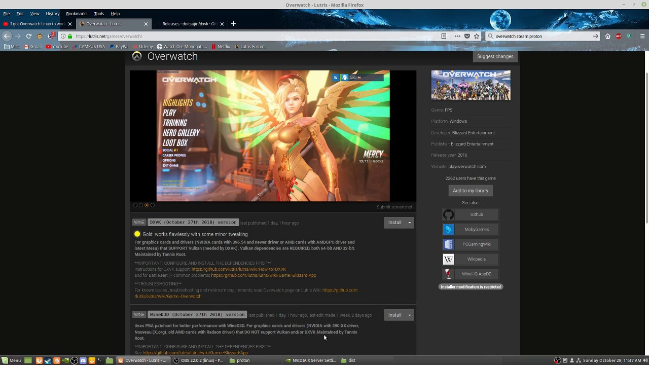 How to set up Overwatch Linux via Steam Proton