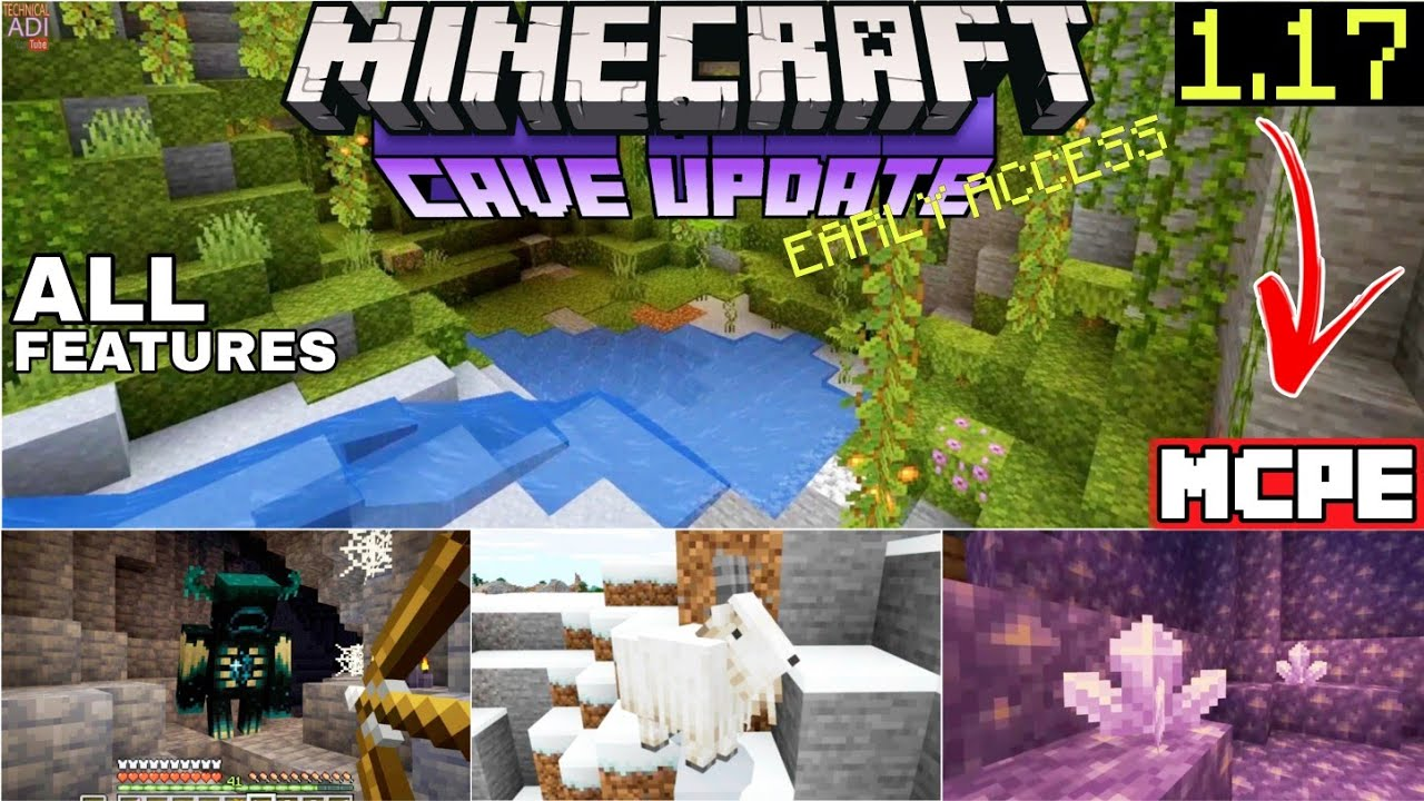 How to Download Minecraft PE Caves and Cliffs UPDATE 12.127 Cave Update Mcpe  122