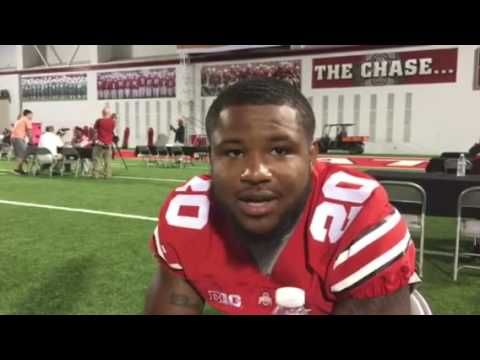 Mike Weber one-on-one interview at media day