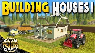 BUILDING AND RENTING HOUSES w/ CITY ECONOMY : Farming Simulator 17 Gameplay : American Outback EP 2