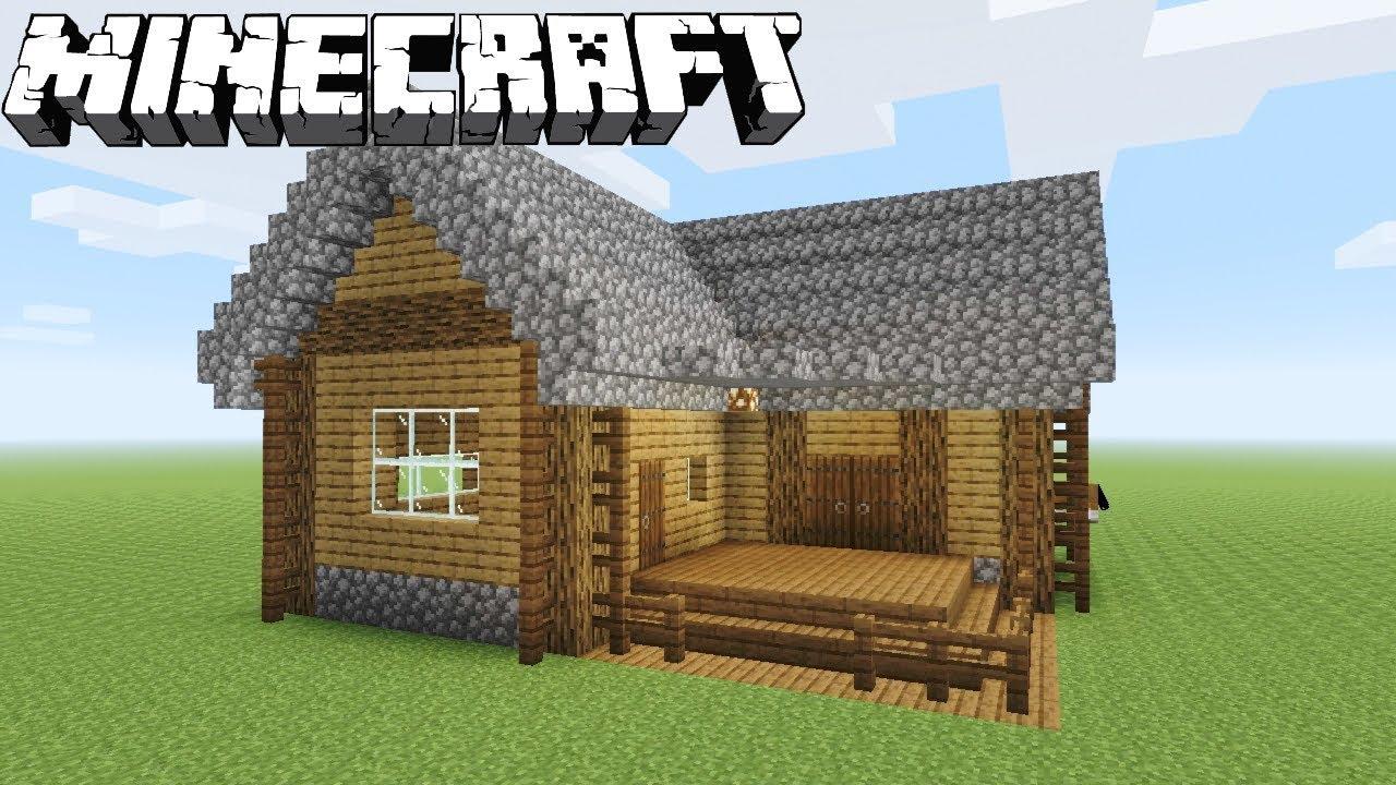 Minecraft Speedbuild  Wooden Bungalow