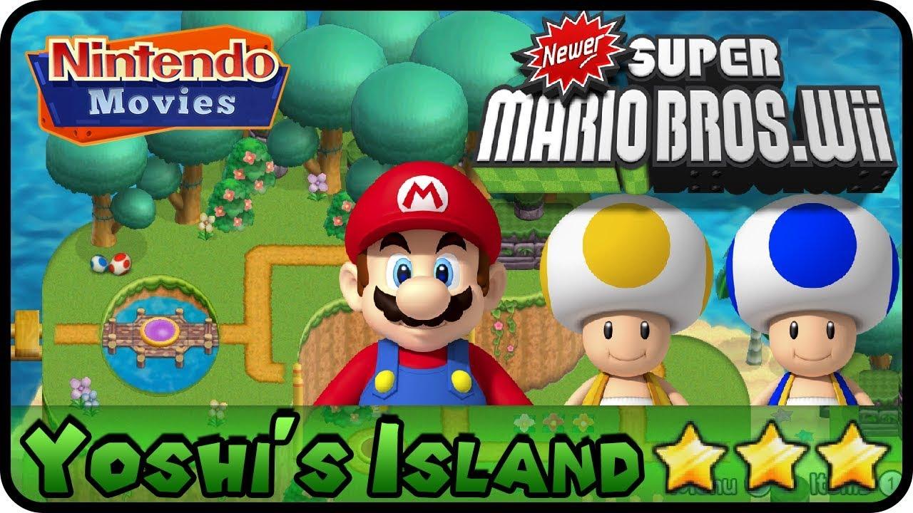 Newer Super Mario Bros Wii World 1 Yoshi S Island 100