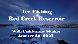 Ice Fishing Red Creek Reservoir January 30 2021 with Fishfearme Studios Cold Fish Fun Drones