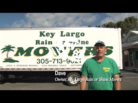 Meet Dave, the owner of Key Largo Rain or Shine Movers based in Key Largo, Florida Keys
