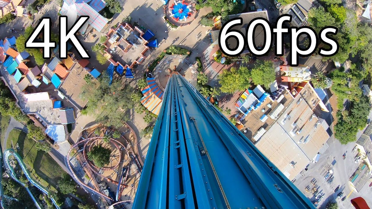 Falcon's Fury on-ride 4K POV @60fps Busch Gardens Tampa