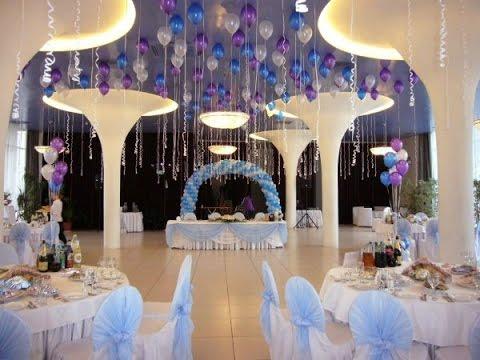Украшения на свадьбу зала шарами