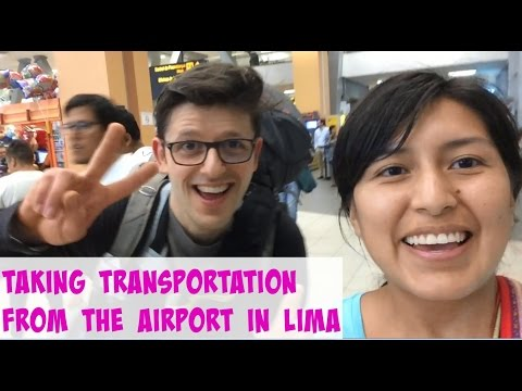 Transportation out of Jorge Chavez International Airport in Lima, Peru (video 26)