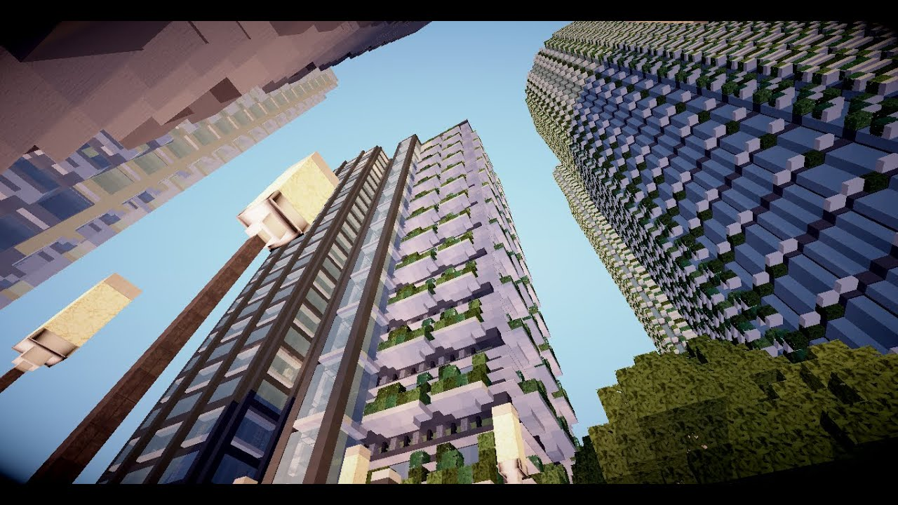Minecraft timelapse immeuble moderne 1 youtube - Immeuble moderne minecraft ...