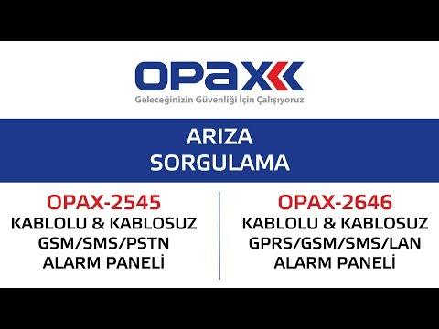 OPAX-2545 ve OPAX-2646 Arıza Sorgulama nasıl yapılır?