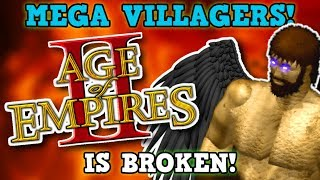 Age Of Empires 2 IS NOT PERFECTLY BALANCED! 100x Mod Mega Villagers Is 100% NOT Broken I Promise!!