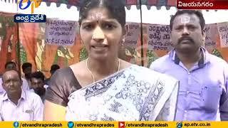 Prabodhananda Swami activists hold protest at Vizianagaram