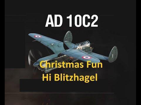 Gaming Bear AD 10 C2 Christmas fun, WOWP, World of Warplanes, Wargaming,