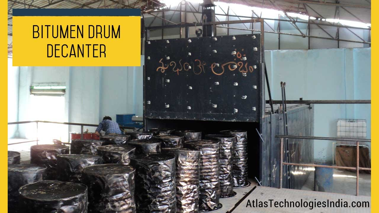 Asphalt Melting Equipment Bitumen Drum Heater Youtube