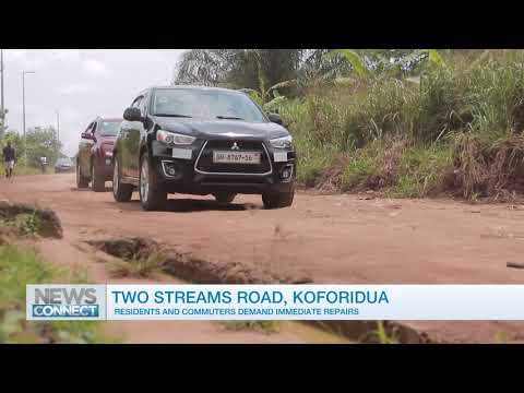 Commuters demand repairs to Koforidua Two Streams road