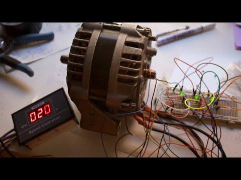 Installing Hall Sensors To An Alternator (as A BLDC Motor) + Electric Go Kart Update (it's Broken)