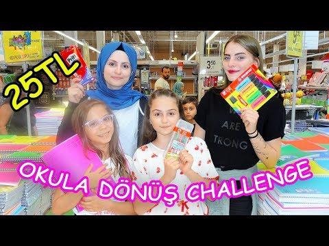 25 TL ile OKULA DÖNÜŞ CHALLENGE! (Fenomen Tv ile Carrefour ve Migros'ta) - Eğlenceli Çocuk Videosu
