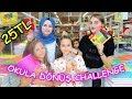25 TL ile OKULA DÖNÜŞ CHALLENGE! (Fenomen Tv ile Carrefour ve Migros'ta) - Eğlenceli Çocuk Videosu mp3 indir