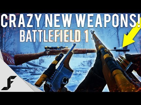 CRAZY NEW GUNS GAMEPLAY - Battlefield 1 8 Weapons Added (Silenced Sniper)