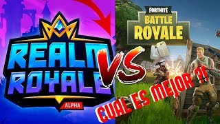 FORTNITE VS REALM ROYALE !!! EL ASESINO DE FORTNITE ?!?! REALM ROYALE VS FORTNITE BATTLE ROYALE !!!