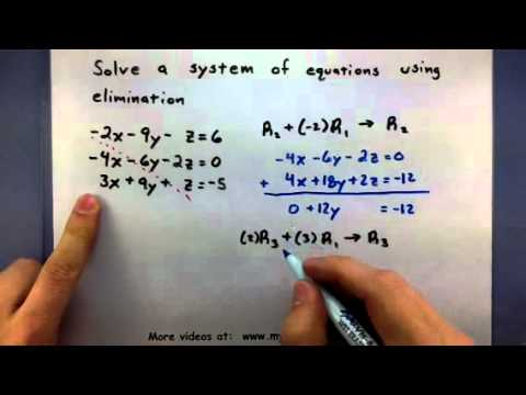 Pre-Calculus - How To Solve A System Of Equations Using Elimination