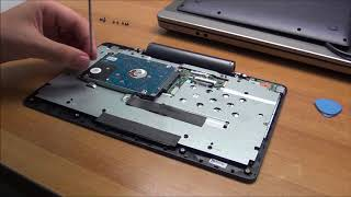 How to remove or upgrade the hard drive from an ASUS T100 base