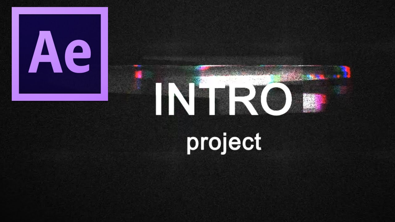 glitch intro free after effects intro template youtube