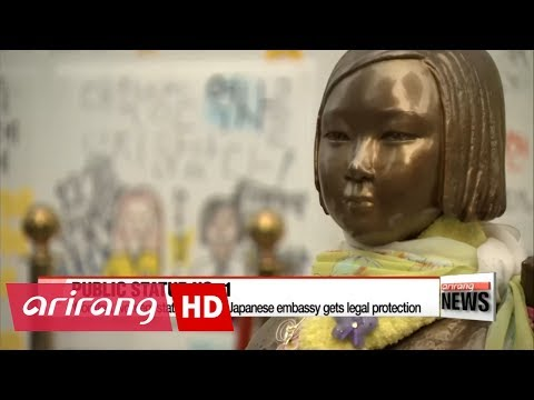 'Comfort women' statue outside Japanese embassy gets legal protection