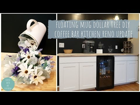 DOLLAR TREE DIY | NEW COFFEE BAR | KITCHEN RENOVATION UPDATE | NEWAIR AB-1200BP REVIEW