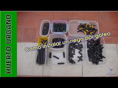 #HuertoUrbano. Cómo instalar un RIEGO por GOTEO automatizado