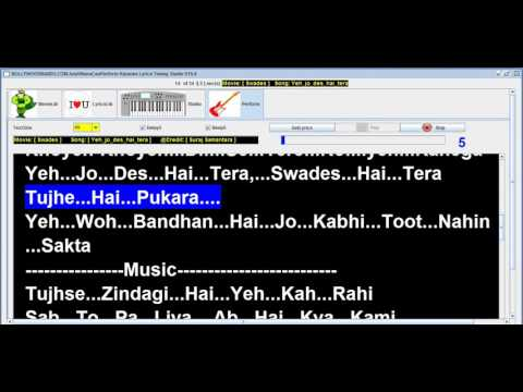 YEH JO DESH HE TERA | Digital Lyrics | Bollywoodbands.com | #SRK Hits