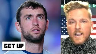 Pat McAfee: Andrew Luck was in a scary situation with the Colts' abysmal offensive line | Get Up