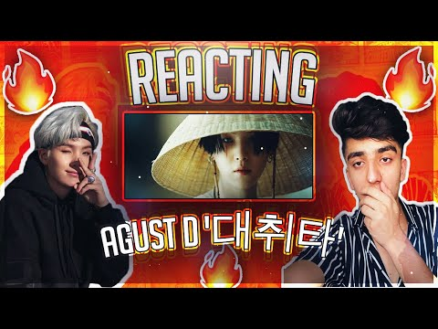 FIRST TIME REACTING TO K-POP & BTS!! 🤩 (Agust D '대취타' MV REACTION)