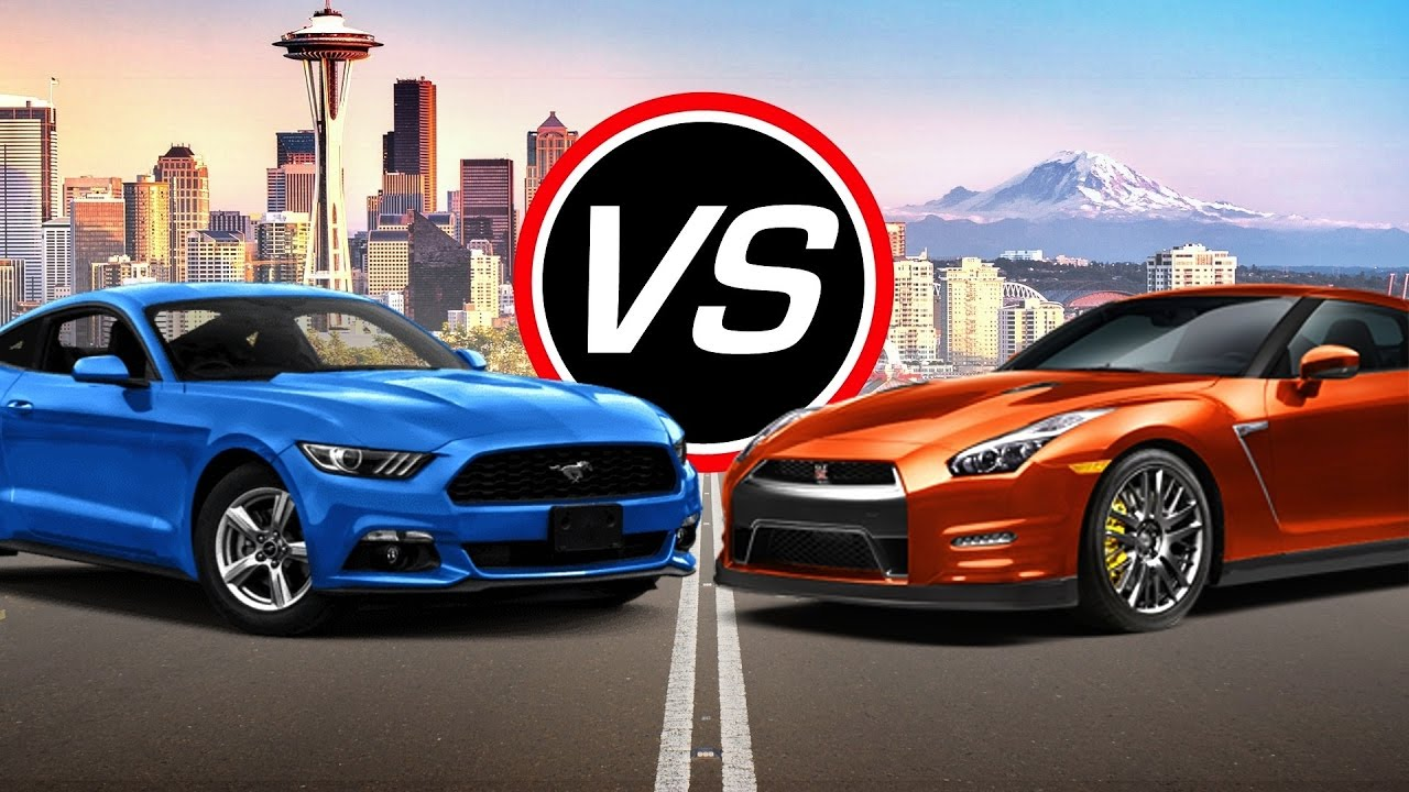 2016 ford mustang ecoboost i4 vs nissan gt r spec comparison