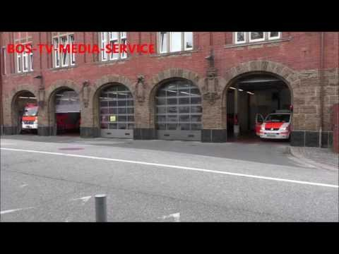 Einsatz Feuerwehr Hamburg Wache Innenstadt KLF,HLF,DLK