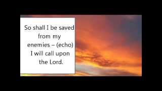 I will call upon the Lord praise song with lyrics
