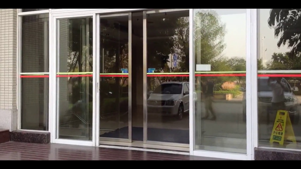 Commercial automatic sliding door opener youtube