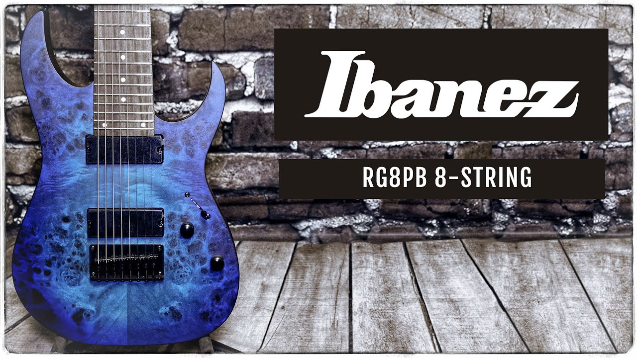 ibanez rg8pb 8 string guitar manchester music mill youtube