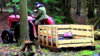 Stone Sled- Inexpensive Logging Trailer!- Log Cabin Update- Ep 9.7