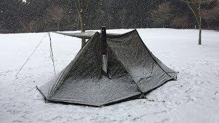 #45「Hot tentで雪中キャンプ」~東ドイツとポーランドのコラボテント~(ソロキャンプ17回目)