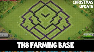 Clash of Clans | Sick TH8 Farming Base! | 'Spawn Trap' + Replay - After Christmas Update 2014
