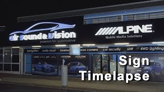 Air Sound & Vision New Sign Time Lapse