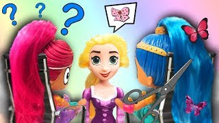 Shimmer and Shine Get Makeovers at Rapunzels' Beauty Salon!