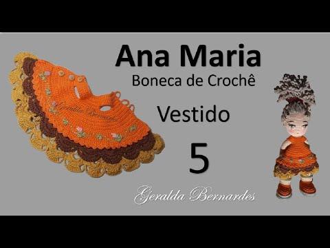 DIY MUÑECA AMIGURUMI BARBARA (QUINTA PARTE)EL VESTIDO - YouTube | 360x480