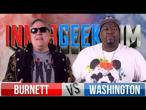 Robert Meyer Burnett VS Jay Washington - Movie Trivia Schmoedown Innergeekdom